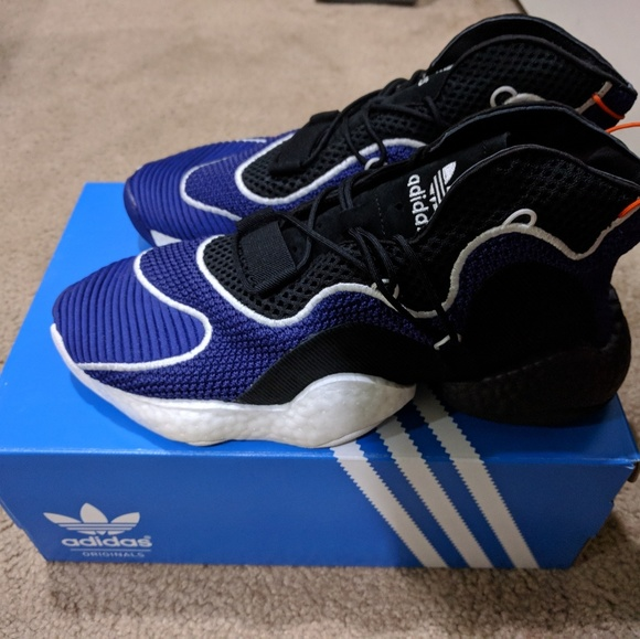 timeless design 5e833 b4e2b ... adidas crazy byw purple and black